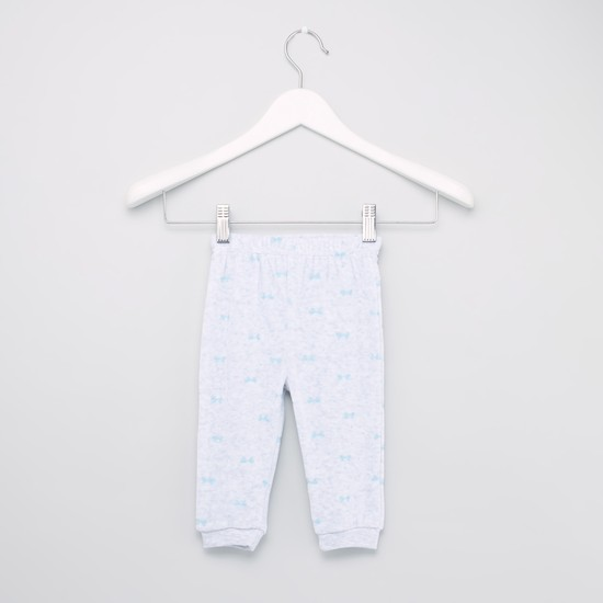Swan Embroidery Detail T-shirt and Jog Pants Set