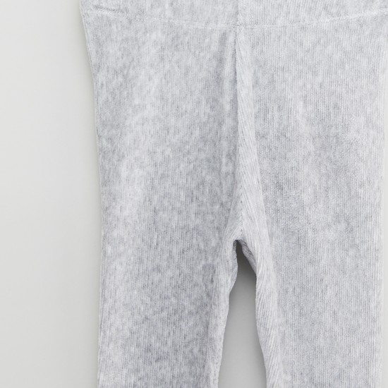 Textured Leggings with Elasticised Waistband