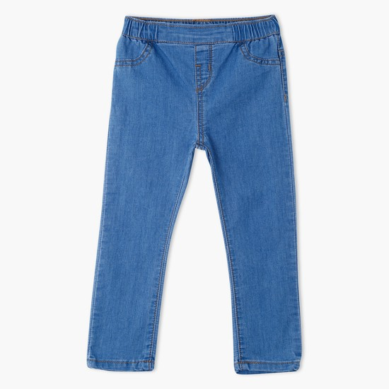 Light Wash Pull-On Jeans
