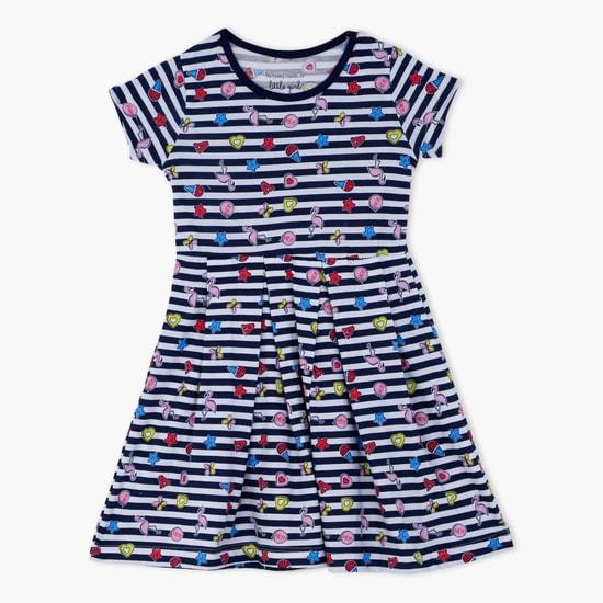 Printed Short Sleeves Dress