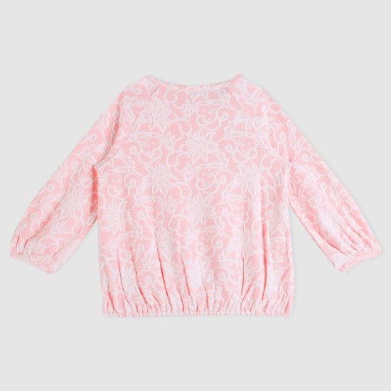 Textured Long Sleeves Top