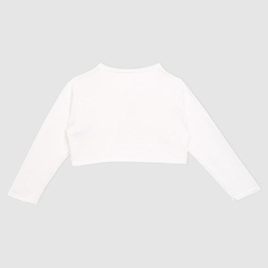 Embellished Long Sleeves Bolero Jacket
