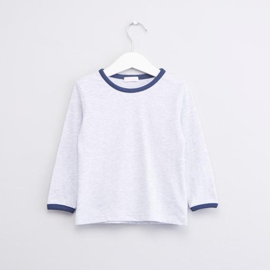 Printed Dungaree and Long Sleeves T-shirt