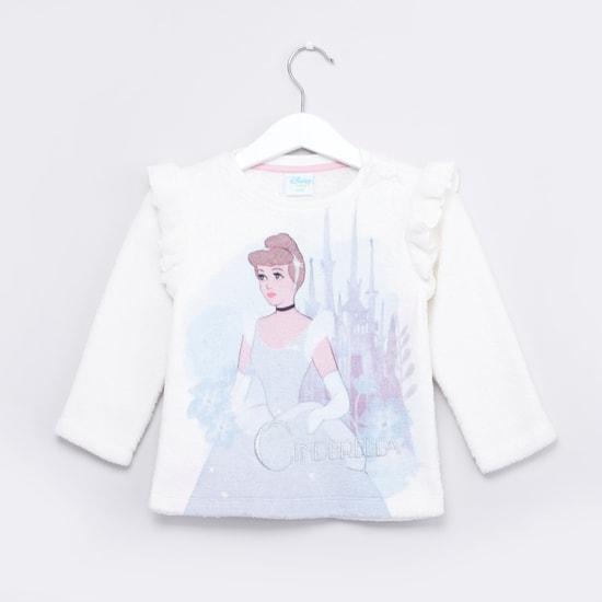 Cinderella Printed Sweatshirt with Long Sleeves