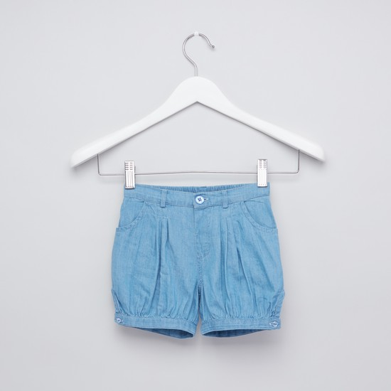 Striped Top and Shorts with Button Closure