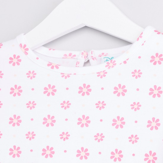 Minnie Mouse Printed Long Sleeves T-shirt and Dungaree