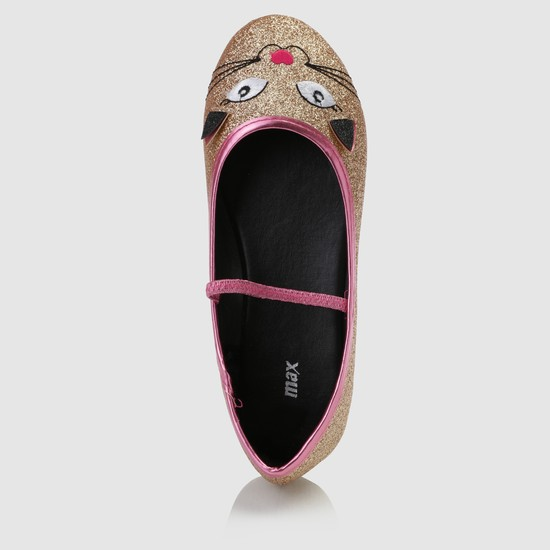 Embroidered Slides with Elastic Strap