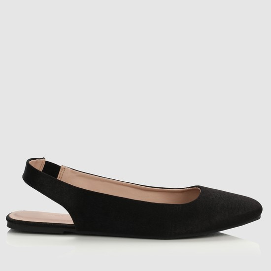 Slip-On Flat Sandals with Slingback