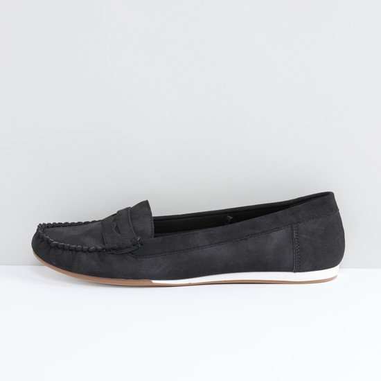Slip-On Loafers with Stitch Detail
