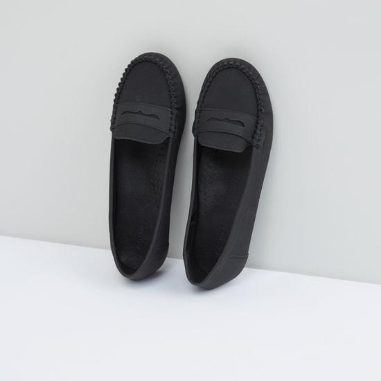 Stitch Detail Slip-On Shoes