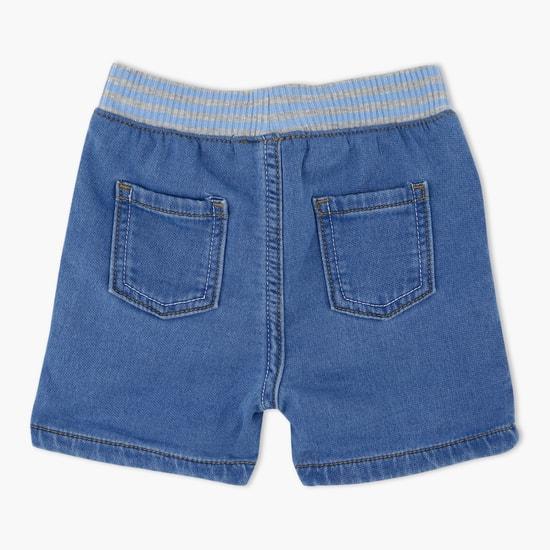 Denim Shorts with Elasticised Waistband