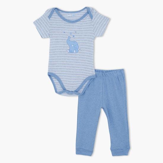 Printed Bodysuit and Pyjama Set