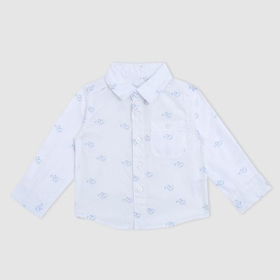 Printed Spread Collar Long Sleeves Shirt