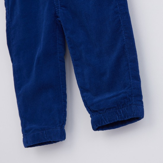Textured Pants with Elasticised Waistband