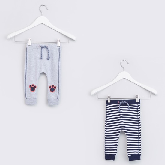 Full Length Jog Pants with Drawstring - Set of 2