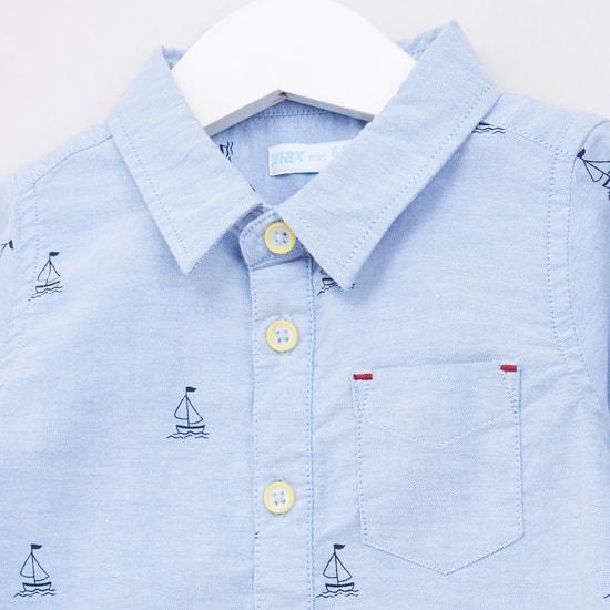 Printed Shirt Long Sleeves Bodysuit