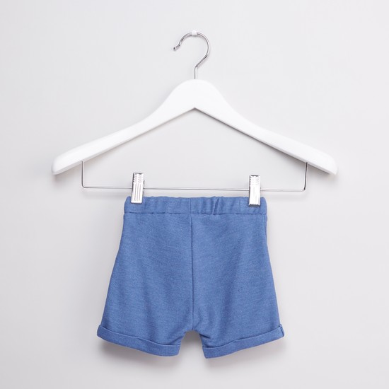 Textured T-shirt with Pocket Detail Shorts