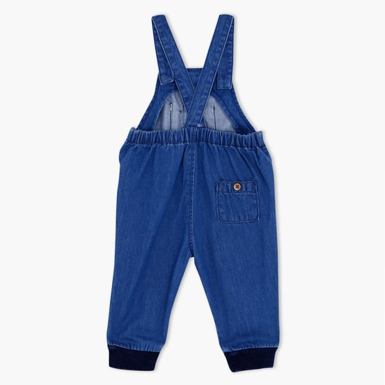 Denim Dungaree with Ribbed Cuffs
