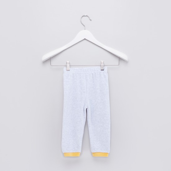 Helicopter Embroidered Raglan Sleeves T-Shirt with Jog Pants