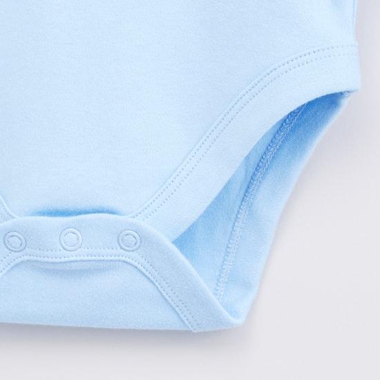 Set of 3 - Printed Bodysuit with Long Sleeves