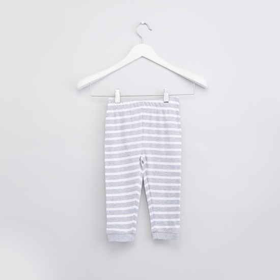 Printed T-shirt and Pyjama with Elasticated Waistband