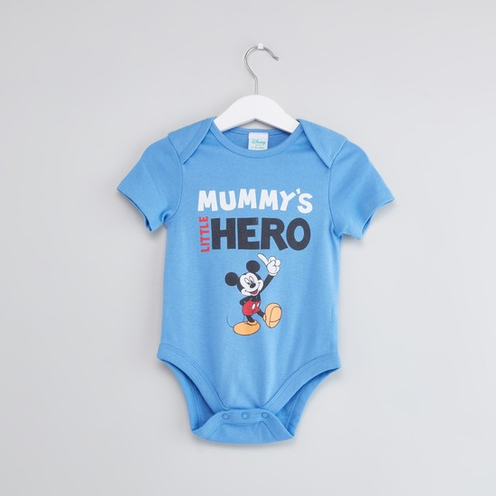 Set of 2 - Mickey Mouse Printed Bodysuits