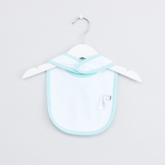 Printed Bibs with Press Button Closure - Set of 3