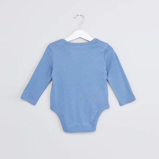 Printed Long Sleeves Bodysuit - Set of 3
