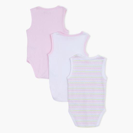 Sleeveless Round Neck Bodysuit - Set of 3