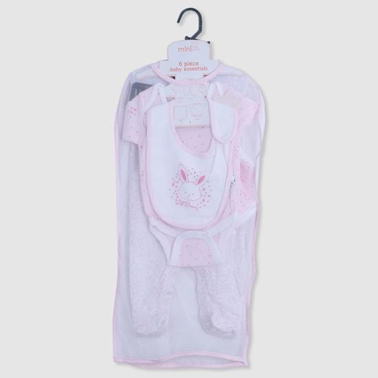 Printed 6-Piece Bodysuit Set