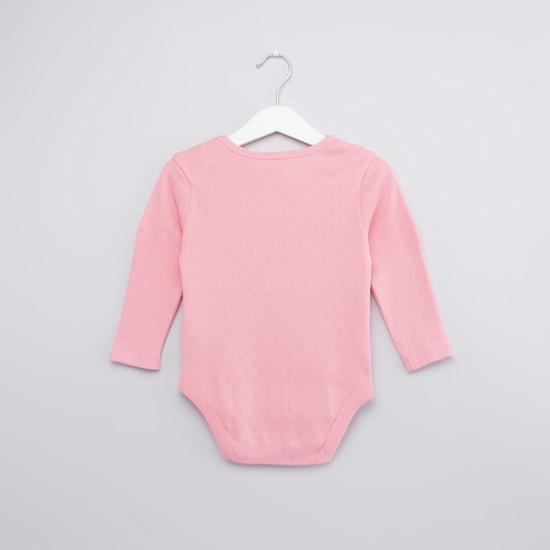 Printed Bodysuit with Long Sleeves - Set of 3