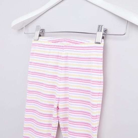 Printed Round Neck T-shirt and Jogger Pants Set