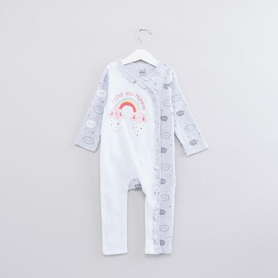 Printed Long Sleeves Sleepsuit with Beanie Cap