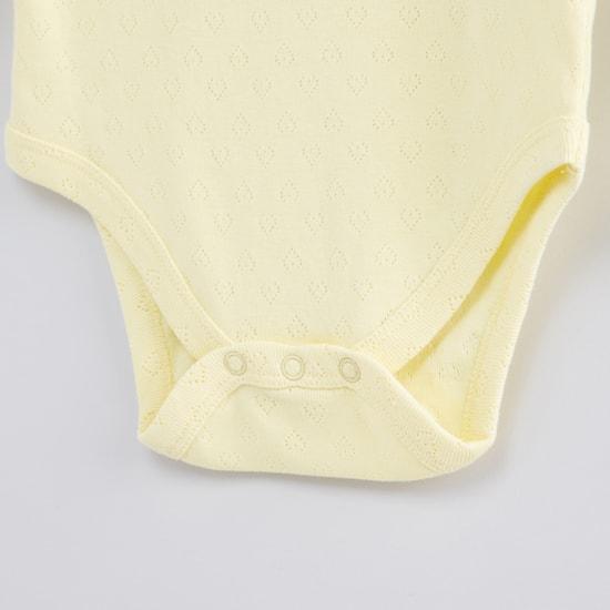 Textured Long Sleeves Bodysuit - Set of 3
