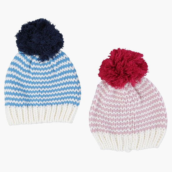 Knitted Beanie Cap - Set of 2