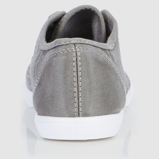 Stitch Detail Shoes with Lace-Up Closure
