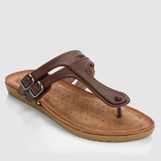 Textured Slip-On Flat Sandals