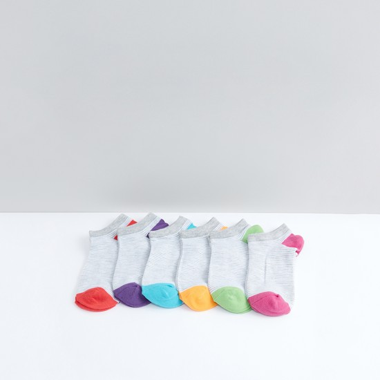 Striped Ankle Length Socks - Set of 6