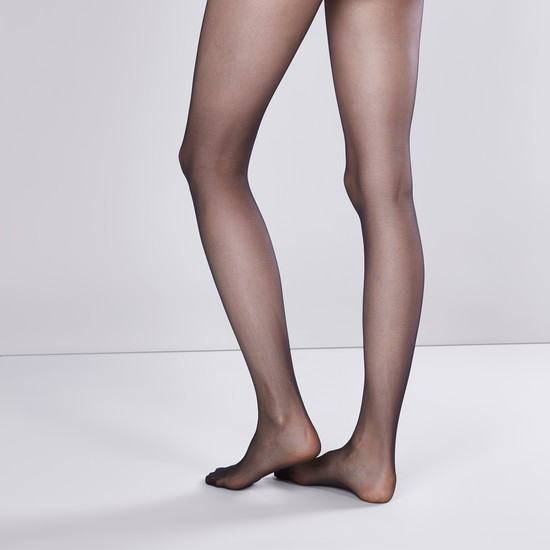 Textured Closed Feet Tights