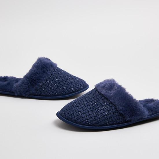 Textured Bedroom Slippers