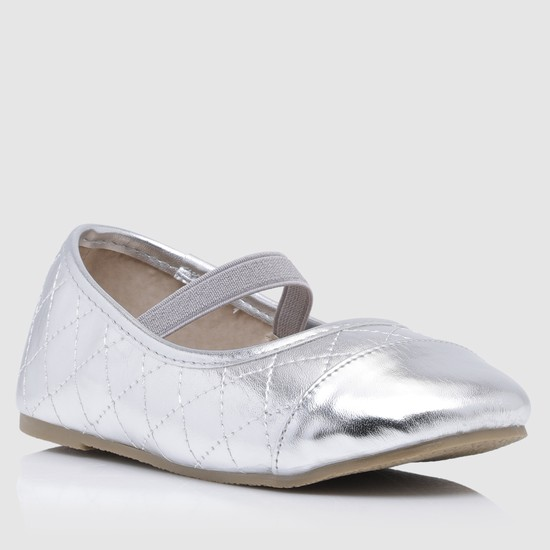 Textured Mary Jane Shoes with Elasticised Detailing