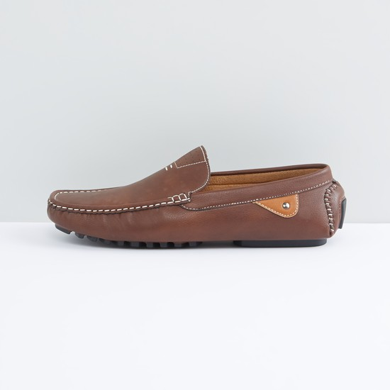 Loafers with Stitch Detail