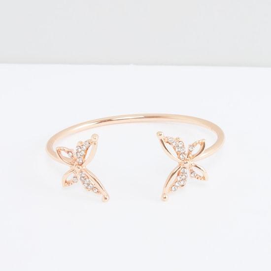 Butterfly Studded Cuff Bracelet