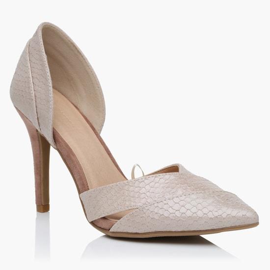 Textured High Heel Sandals