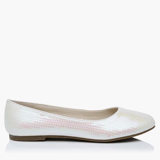 Sequin Design Slip-On Shoes
