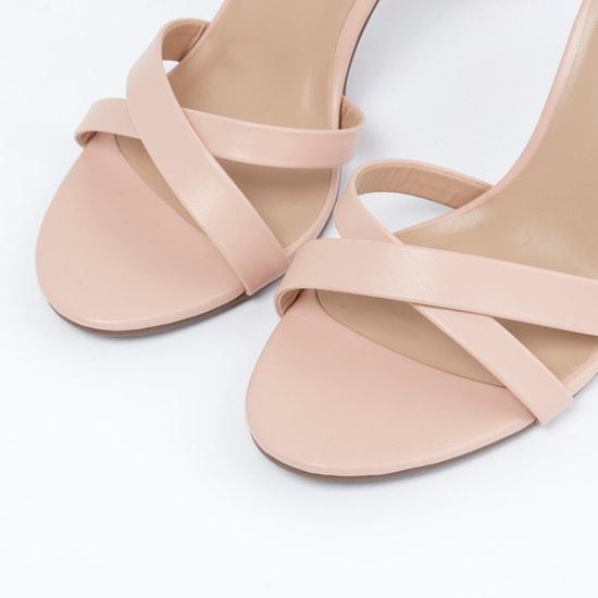 Block Heel Sandals with Adjustable Ankle Strap