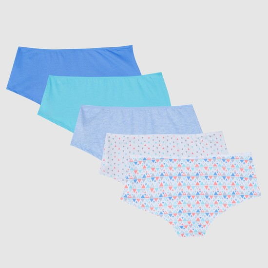 Boyshorts with Elasticised Waistband - Set of 5