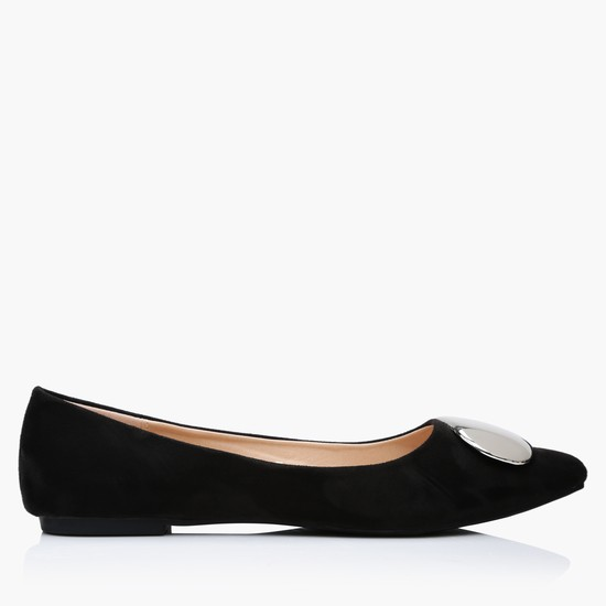 Ballerina Shoes with Metallic Detail