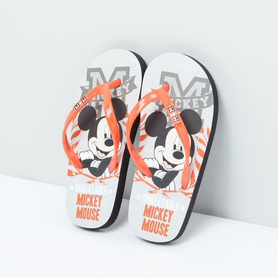 Mickey Mouse Printed Flip Flops