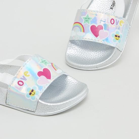 حذاء خفيف بإغلاق مطاطي وطبعات